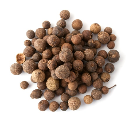 Allspice heap on white background  Top view Stock Photo - 15856835