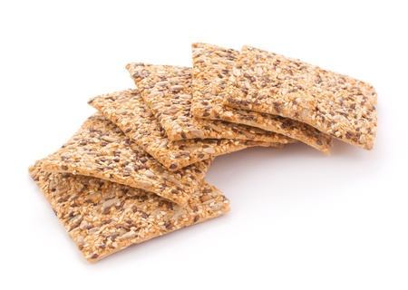 low cal: Healthy cookies with many sesame and sunflowers seeds Stock Photo