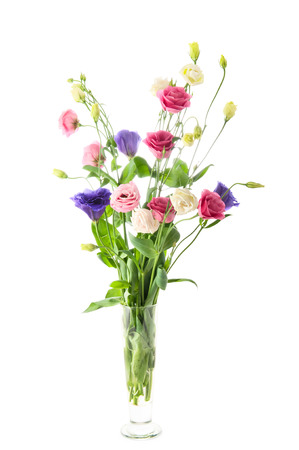 Beautiful flowers bouquet in a glass vase