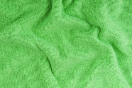 microfiber: Green microfiber towel background Stock Photo