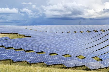 Gebiet der Photovoltaik-Module eines großen Solarkraftwerk