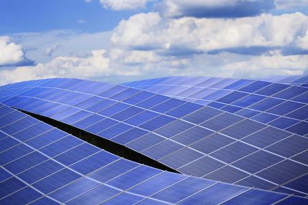 powerplant: Solar energy powerplant background