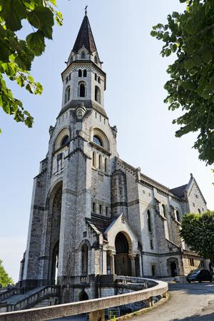 visitation: Annecy, France, La visitation cathedral, a famous landmark in France