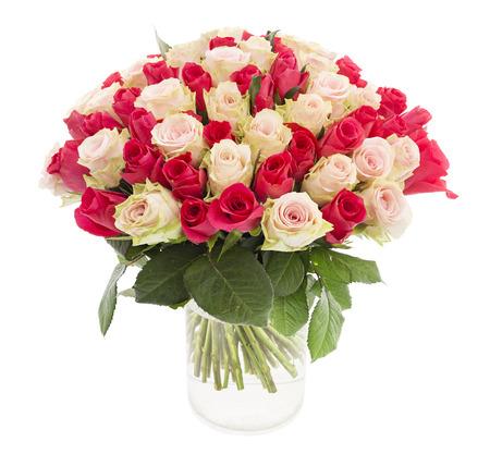 Beautiful tender roses in a vase