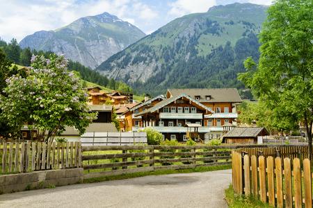 grossglockner: Alpine village near Grossglockner mountain in Austria Stock Photo