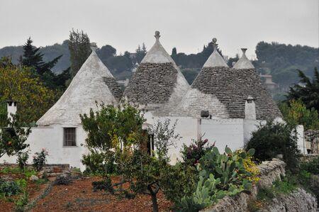 Traditional Trullo or Trulli houses near Alberobello, Italy
