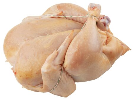 Raw chicken isolated on white. Chicken meat for cooking at home.