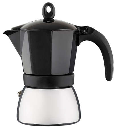 Luxury coffee pot isolated on white