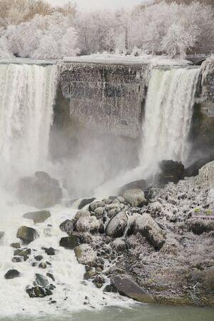 Niagara Falls - frozen Stock Photo