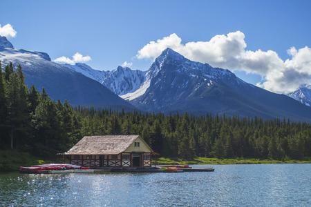 Maligne Lake boathouse Editorial