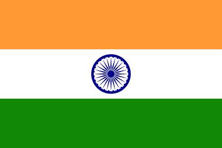 India flag vector isolate for banner or print or illustration