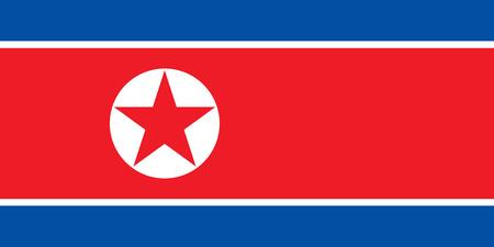 North Korea flag vector isolate banner print flat