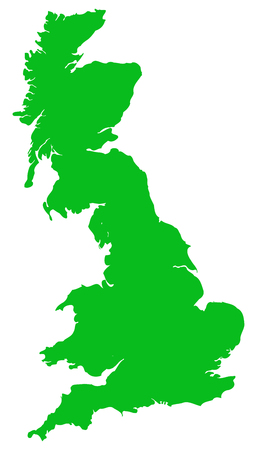 Vector illustration of a Great Britain map flat and isolated. Foto de archivo - 124682863