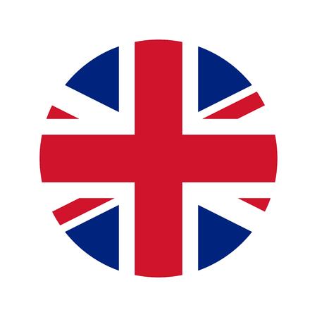 UK flag icon vector isolate print illustration