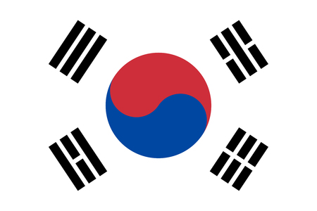 South Korea flag vector isolate for banner or print or illustration Imagens - 120319433