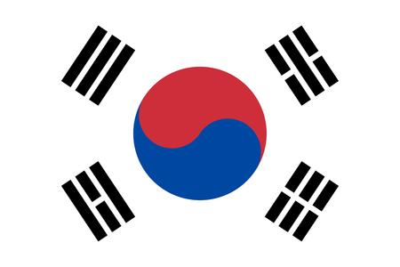 South Korea flag vector isolate for banner or print or illustration Ilustração