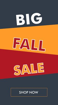 Simple fall sale vertical banner or flyer with oblique backgrounds. The best solution for seasonal promotions.