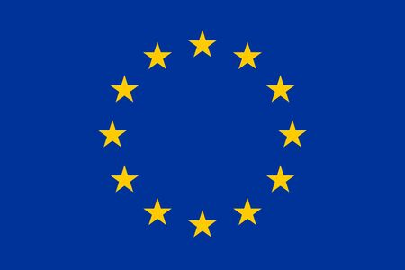 Flag of Europe. European Flag. Vector, isolated, with preservation of standard colors and proportions. Suitable for printing, websites, banners, illustrations Иллюстрация
