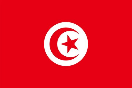 Tunisian flag vector isolate for banner or print or illustration Ilustrace