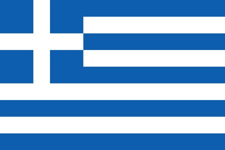 Flag of Greece. Vector, isolated, with preservation of standard colors and proportions. Suitable for printing, websites, banners, illustrations Foto de archivo - 129515013