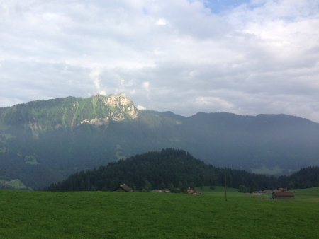alpes: Beautiful view of the Swiss Alpes in Leysin switzerland