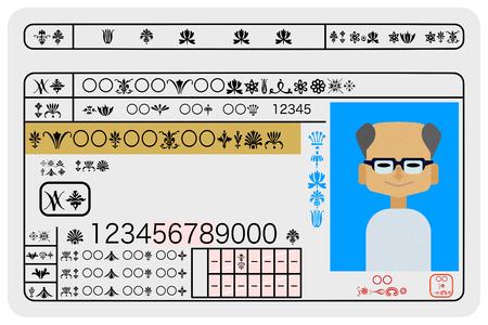 Excellent male aged driver driver's license sample image Illusztráció