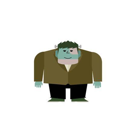 Cute Frankenstein Monster Illustration 01 Çizim