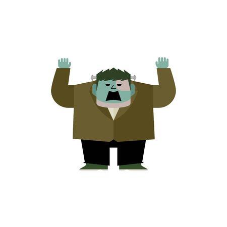 Cute Frankenstein Monster Illustration 02 Çizim
