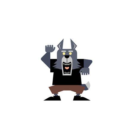 Cute Werewolf Illustration 02