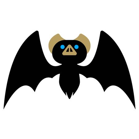 Cute Bat Illustration 01  イラスト・ベクター素材