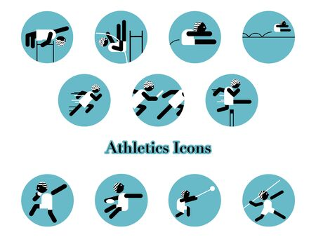 An icon set for athletics events