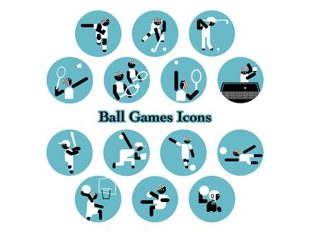 Icon set of ball game event