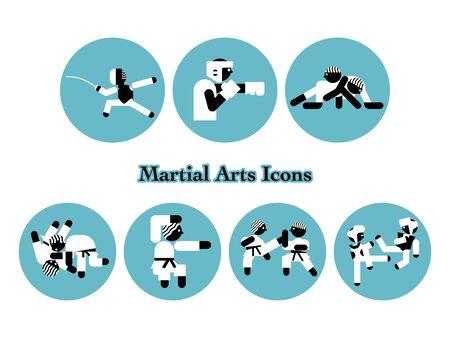 Martial Arts Event Icon Set