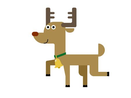 Cute Reindeer Illustration 02