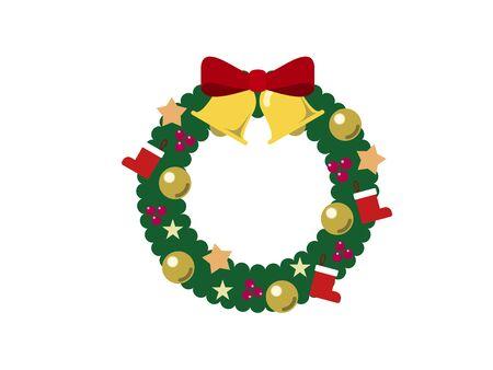 Christmas Wreath Illustration 01