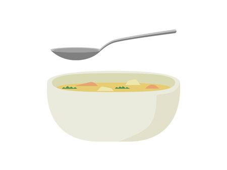 A simple illustration of a nutritious stew 免版税图像 - 130552734
