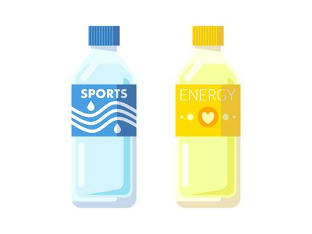 Simple illustrations of sports drinks 免版税图像 - 131006108