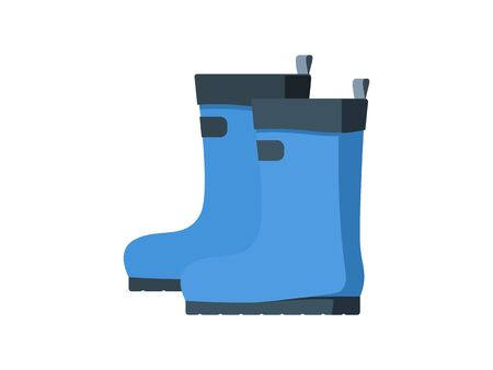 Simple illustrations of rubber boots