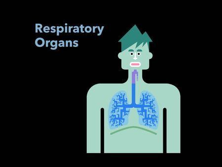 Simple illustration of a respiratory officer with a black back mans face