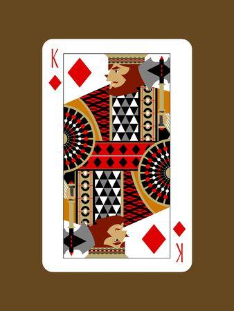 Diamond King Design Stock Illustratie