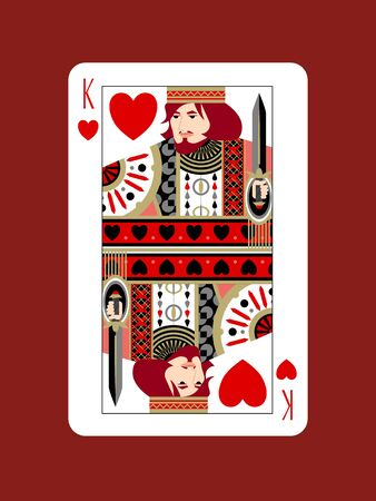 The King of Hearts Design 免版税图像 - 134575525