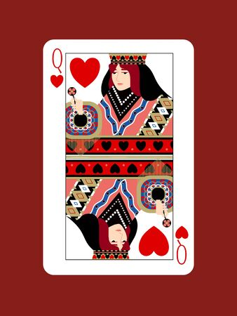 The Design of the Queen of Hearts Stockfoto - 134575526