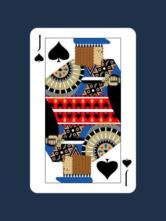 Jack Design of Spades Stockfoto - 134575531