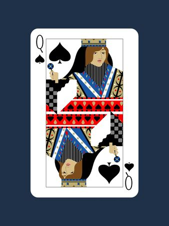 Queen design of spades