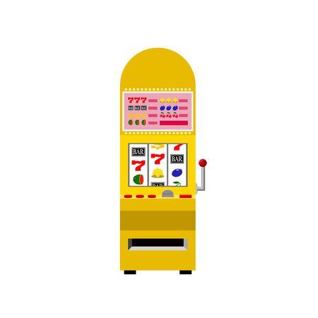 Casino Yellow Slot Machine 矢量图像