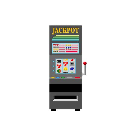 Casino Black Slot Machine Stockfoto - 135360818