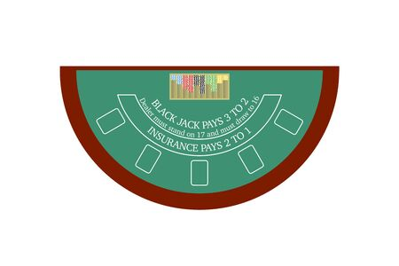 Flat design of blackjack table 矢量图像