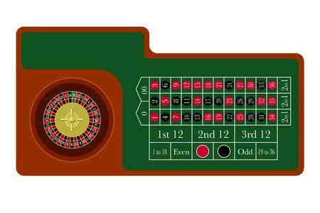 Casino Roulette Table Plane Design