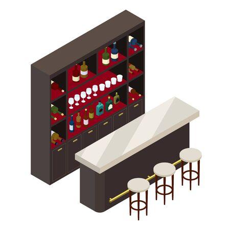 Isometric view of bars Stock Illustratie