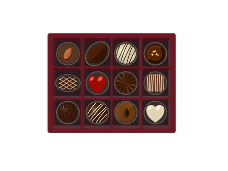 Illustrations of Chocolate Assortment 免版税图像 - 137837202